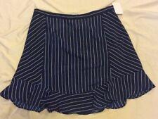 J. Crew Navy Blue & White Striped A- Line Skirt, Size 12
