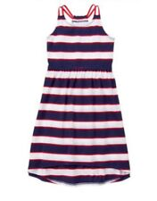 Nwt Gymboree Girls Red White & Cute Striped Knit DRESS 4th FOURTH OF JULY Size 5