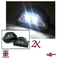 2x 2 LED Rear Tail License Number Plate Lights Lamp 24V Lorry Truck Trailer Cab