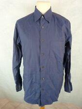 EDEN PARK Chemise Homme Taille 42-16,5 - Town line - Double retors - Bleue