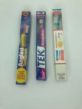 Vintage Toothbrush New Tek Professional Medium Red Pathmark Shoprite Soft
