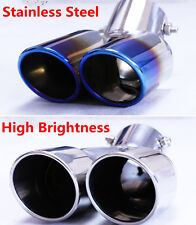 Blue Colorful Stainless Steel Car Auto Rear Dual Exhaust Pipe Tail Muffler Tip