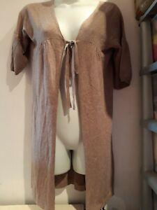 Light Brown Short Sleeve Cardigan.  Size 8-10?. Promod