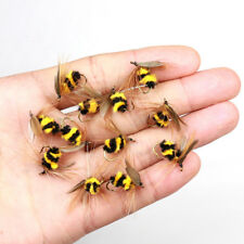 LOT 20 Lure Foam Bumble Bee Nymph Trout Flies Fly fishing Hook 10#