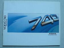 Prospekt Volvo 740 GL/GLE/Turbo D/Turbo, 1988, 38 Seiten, englisch für UK