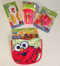 Sesame Street Beginnings Infant Baby Starter Gift Set Bib~Cup~Teether~Brush New