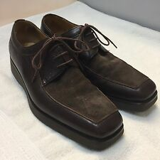MEZLAN ORTONA MENS 10 BROWN SUEDE LEATHER LACE UP OXFORD CASUAL DRESS SHOE SPAIN