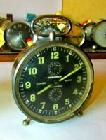 Vintage alarm clock 'WEHRLE' German mechanical Wind-Up desk clock Collectible #5