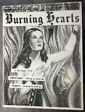BURNING HEARTS Volumatix Houston TEXAS (1981) Punk Flyer The Island