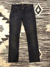 7 for all mankind straight leg Jeans Dark Gray Women's size 25 EUC