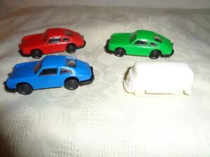 4 x verschiedene Plastik Autos Kunststoff Nr. 2  NEU