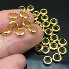 20pcs/lot  6MM Gold Stainless Steel Round Big Hole Beads DIY Jewelry Accessories