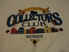 Vintage CATS MEOW Village Collectors CLUB Member T Shirt FREE Shipping sz Large