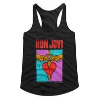 Bon Jovi You Give Love a Bad Name Women's Tank Top Album Cover Heart Racerback