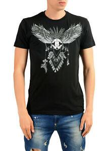 Roberto Cavalli Men's Black Graphic Print T-Shirt Sz S M L XL 2XL