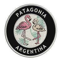 "Two Flamingos Patagonia, Argentina 3.5"" Iron/Sew On Decorative Patch"