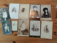 Victorian Antique Cabinet Card Photos of Children 1890-1910 (10 photos)