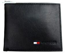 Tommy Hilfiger Men's Leather Coin Credit Card Wallet Bifold Black 31TL25X020