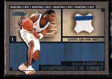 TRACY MCGRADY MAGIC #1 GAME USED JERSEY PATCH SHORTS SP 2002-03 FLEER SHOWCASE