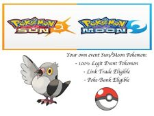 Pokemon Ultra Sun and Moon Hatched from Secret Egg Event 2011 Ash's Pidove