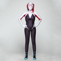 Spider-Verse Gwen Stacy Costume Jumpsuit Kids Girl Women Spider-Man Cosplay Suit