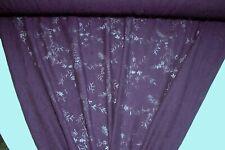 Discount Fabric SHEER DRAPERY Eggplant Floral Home Decor & Drapery Fabric