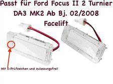 2x TOP LED SMD Kennzeichenbeleuchtung für Ford Focus II 2 Turnier DA3 MK2 /KS1/