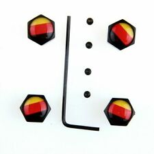 4pcs Anti Theft Car Wheel Tire Valve Stem Air Cap German Germany Flag #4