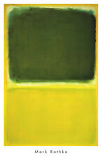 ABSTRACT ART PRINT - Untitled, 1951 by Mark Rothko 40x26 Green Yellow Poster