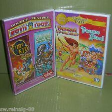Tarzan Of The Apes TREASURE ISLAND 20,000 Leagues Under The Sea TIME KID New DVD