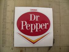 """Vintage Dr Pepper """"V"""" sticker decal 3""""x3"""""""