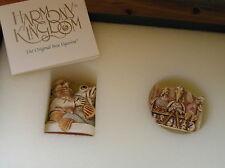 Harmony Kingdom Man Fish Pax Et Bonam Royal Watch Kit with 3 Birds Pin Brooch –