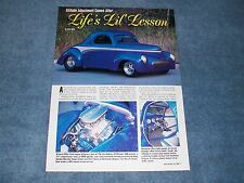 """1941 Willys Coupe Street Rod Article """"Life's Lil' Lesson"""""""