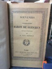 Franc-Maçonnerie Martinisme St Germain Illuminisme… de Gleichen Souvenirs 1868
