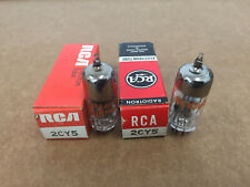 LOT OF 2 RCA 2CY5 VINTAGE ELECTRON VACUUM TUBE