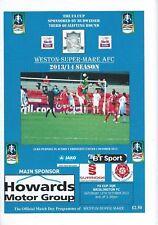 2013 FA Cup match day PROGRAMME Weston Super Mare V brislington