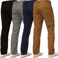 Enzo Mens Straight Leg Jeans Regular Fit Denim Trousers Pants Coloured All Waist
