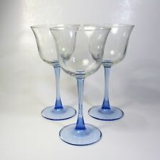 Luminarc AMERICANA LIGHT BLUE Wine Glasses Set of 3 Glass