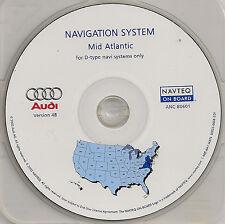 2002 2003 2004 Audi A4 A6 Allroad Navigation CD Cover DE VA +Partial MD PA NJ NC