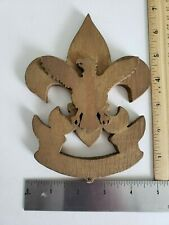 BSA Wooden Boy Scout Insignia Wall Sign Scouting 1920s  Antique Hand Made Eagle