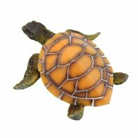 Decoracion de adornos de acuario Tortuga artificial para pecera Tortuga de W9V9