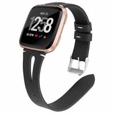 Slim Leather Band Replacement Accessories Watch Strap for Fitbit Versa