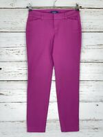 Old Navy 2 Regular Pixie Pants Pink Purple Slim Skinny Leg Ankle Stretch Womens