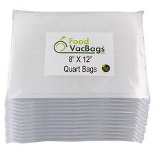 600 FoodVacBags 8x12 for FoodSaver Quart Universal Vacuum Sealer Bags Embossed