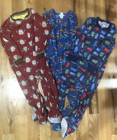 Lot Of 3T Fleece Footed Sleepers Pajamas Boys. Carters And Old Navy