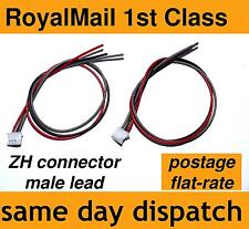ZH connector male plug 3 Pin lead 28 AWG 15cm 1.5mm pitch spacing >> 2 pieces!!