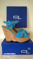 Ana Lublin light blue soft leather Summer/Holiday Wedge Size 41 UK 8 RRP £65