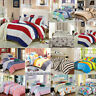 Duvet Cover with Pillow Case Quilt Sheet Cover Bedding Set Single Double King