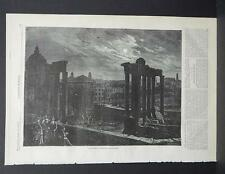 HARPER'S WEEKLY Single Page S2#059 Apr 1873 The Roman Forum by Moonlight