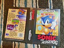 BOX ART ONLY Sonic The Hedgehog 1 Original Sega Genesis Case Sleeve OEM